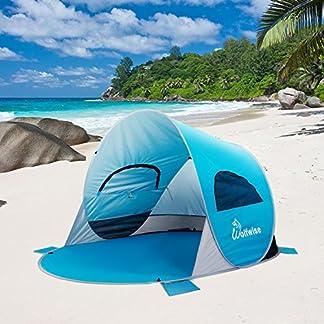 WolfWise Tienda de Campaña para Playa UPF 50 Pop Up Instantáneo Refugio para el Sol, Tienda de Playa para Bebé