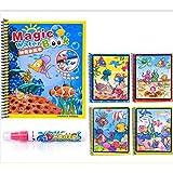Erduo Doodle Libro di Disegno di Acqua Magica Libro da colorare con la Penna Magica Pittura Tavolo da Disegno per Bambini Giocattolo educativo - Multicolore
