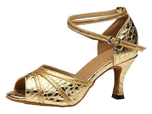 TDA ,  Damen Peep Toes Gold