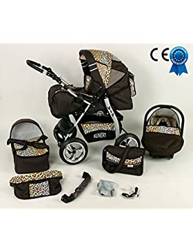 Cochecito Bebé nacimiento leopardo combinada 3en 1asiento Cosy y paraguas Offerte