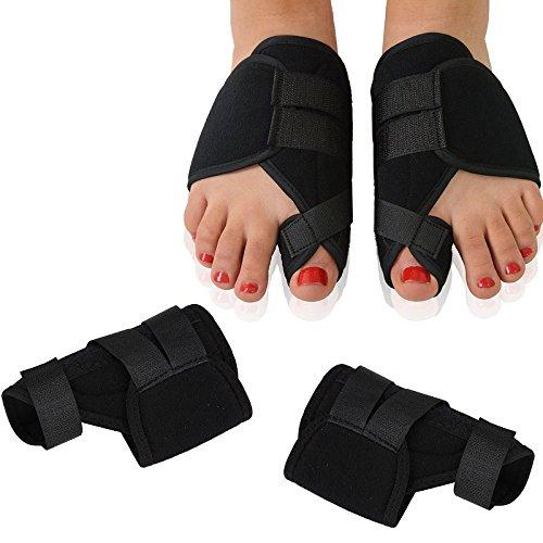5283d7a9699b ZeHui Toe Extroversion Correcting Tape Hallux Valgus Corrector Fracture  Fixation Strap 1 Pair Black S