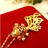 Aoligei vergoldete Messing Goldschmuck Bijouterie golden Lady hohlen Goldfisch Pendant zum Halskette, um eine lange Zeit ist keine Modeerscheinung E