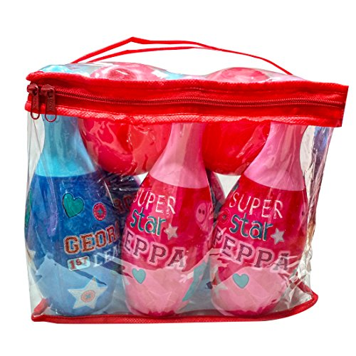 Peppa Pig Bowling set packed in PVC carry case for Children of age 3 to 8 years | Premium Quality | Certified Safe as per European Safety Standards (EN71) | Sports development toys for Kids | Multi Co