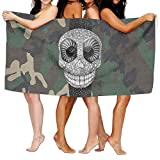 xcvgcxcvasda Serviette de Bain, Soft, Quick Dry, Beach Towel Sugar Skull in Watch 31' X 51' Inch Soft Lightweight Absorbent for Bath Swimming Pool Yoga Pilates Picnic Blanket Towels