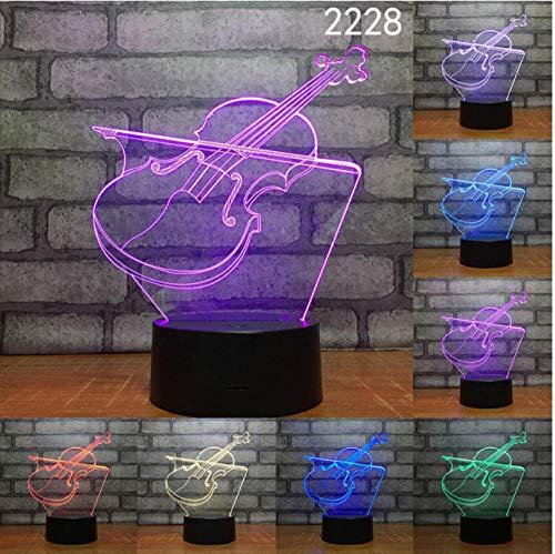 Halloween Musik Harfe Instrument 3D Nacht Lampe Acryl Laser Stereo Illusion 7 Farben Fernbedienung Kinder Freunde Geschenk Spielzeug dekoration