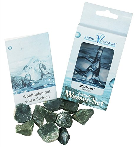 Unbekannt Lapis Vitalis Wassersteine Moosachat, in Schachtel, 1er Pack (1 x 100 g)