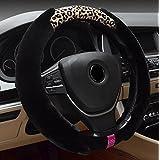 X&L Invierno/dirección rueda cubierta de felpa leopardo / / / coches/genéricos/auto/sistema/sistemas , 38cm