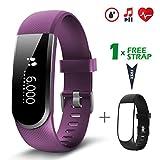 Fitness Tracker [Verbesserte Version] mit Herzfrequenzmesser, CHEREEKI IP67...