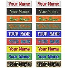 Parches personalizables con nombre bordado, 2 unidades, personalizables, con logotipo de identificación para
