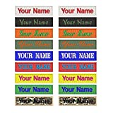 Custom Embroidery Name Patches 2 Pieces Personalized Military Number Tag Customized Logo ID