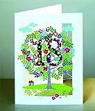 18 Geburtstag Laser Cut Karte 3D Geburtstagskarte Blumen Lebensbaum 16x11cm