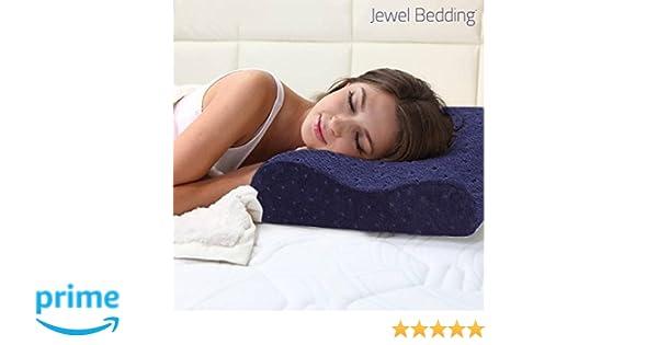 Oreiller Ergonomique à Mémoire de Forme Confort Cervicale Jewel Bedding Neuf