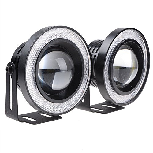 2High Power 8,9cm Projektor Universal LED, weiß/blau/rot Cob Halo Angel Eye Ringe Licht China