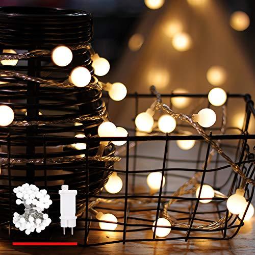 Lichterkette, von myCozyLite®, LED Lichterkette mit timer, EU Stecker, 15m, 100er, Globe, Warmweiß, Weihnachtsbaum Deko, für Innen und Außen, mit 31V DC Niederspannungs-Transformator