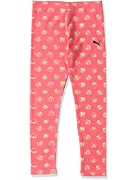 Puma Sesame Street Leggings Infantiles, diseño de Barrio Sésamo, Infantil, Leggings Sesame Street, Sunkist Coral-AOP, 140