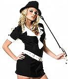 Leg Avenue 83079 - Gangster Lady Kostüm - schwarz/weiß (Small)