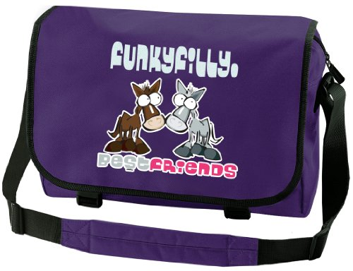 Funky Filly Ragazza Pony 'Best Friends�?Borsa a Tracolla Rossa Dimensioni 41x31x12 cm Viola