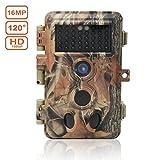 DIGITNOW! Wildkamera Fotofalle 16MP 1080P HD Jagdkamera Beutekameras, 120° Weitwinkel Vision Und Infrarot 20m Nachtsicht, Wasserdichte IP66 Überwachungskamera 40 IR LED
