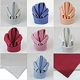MACOSA 3er Set edle Stoffservietten   versch. Farben   45x45 cm   100% Baumwolle   Tischwäsche Tisch-Dekoration Mundservietten Textil (Weinrot) - 9