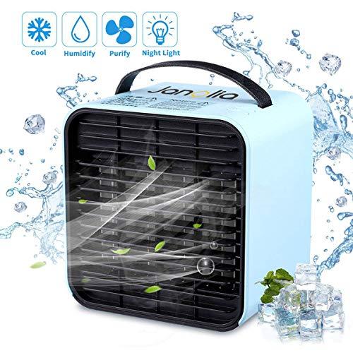 Janolia Aire Acondicionado USB, Mini Air Enfriador Portátil Acondicionado sin Ruido, Enfriamiento...