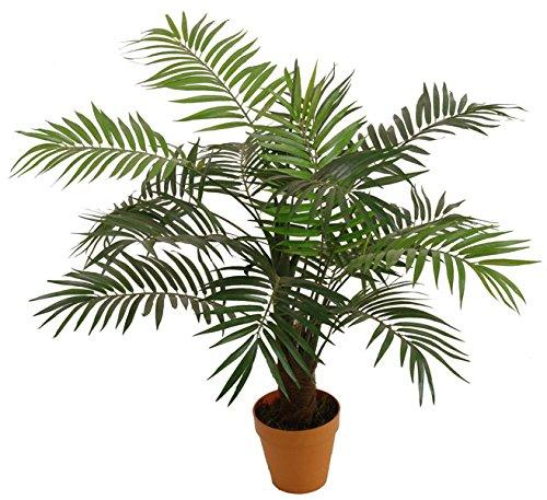 Best Artificial - Palmera de salón de 90cm para interior y exterior, jardín de invierno tropical, oficina, planta de jardín