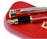 Stylo plume en bois de Rose Luxe avec pochette offerte | 100% fabriqué à la main | Set de stylos plumes de cadres| Collection de stylos vintage| Stylo idéal comme cadeau professionnel et classiq