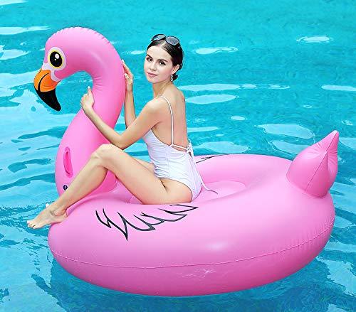 Fenicottero gigante gonfiabile, galleggiante piscina piscina gonfiabile giocattolo di galleggiante gonfiabili con valvole rapide 67 pollici 170cm