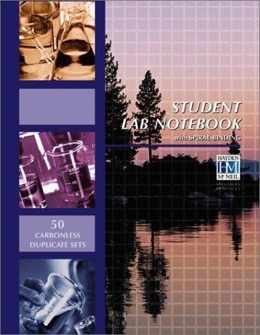 Student Lab Notebook: 50 Carbonless Duplicate Sets by Hayden-McNeil (2000) Spiral-bound