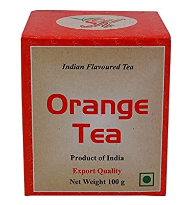Indien Aromatisé Thé Fruits Orange Assam Pur Thé Noir 100 G