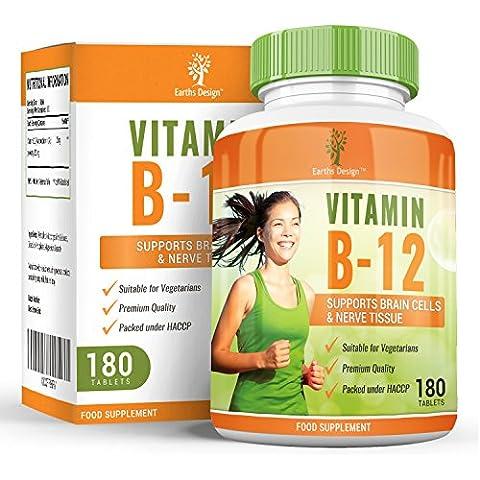Earths Design Vitamina B12, metilcobalamina, 1000 μg , complesso ad