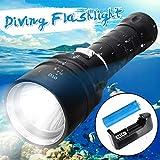 P12cheng LED-Taschenlampe, Handtaschenlampe, Unterwasser-Taschenlampe, 100 m, 50000 lm, T6 LED,...