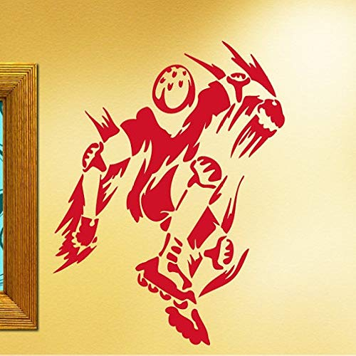 jiushizq Teenager Schlafzimmer Coole Dekorative Wandaufkleber Neu Silhouette Wandbild Vinyl Kunst Extreme Sport Serie Wandbild Y Rosa 50x58cm