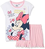Disney Minnie Mouse Mädchen Zweiteiliger Schlafanzug 2tlg, Gr. 116 (Herstellergröße: 6Y/116CM), Weiß (White 001)