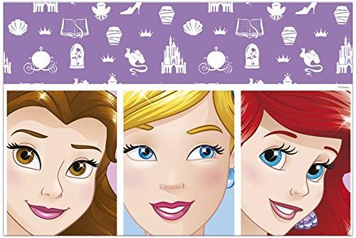 Procos 90869 Tischdecke Disney Prinzessinnen aus Plastik, rosa
