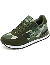 HEmei Sneakers da uomo, Scarpe da maglia nuove autunno inverno, Scarpe sportive casual in rete, Scarpe da corsa antiurto antiscivolo, Scarpe da ginnastica stringate uomo