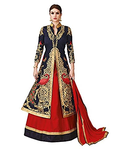 Kimana Indian Bollywood Designer Pakistani Lehanga Choli Dupatta Bridal Dress Material Semi-stitched