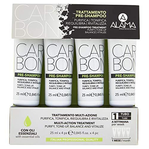 Scheda dettagliata Alama Professional CARBON Trattamento Pre-Shampoo Riequilibrante - 4x25 Millilitri
