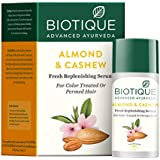 Biotique Bio Almond and Cashew Fresh Replenishing Hair Serum, 40ml