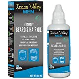 Indus Valley 100% organic men's Beard Oil for smooth beared (NO MINERAL OIL - NO PARABENS - NO ALCOHOL- NON STICKY)-60ML