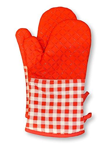 nestarchive Baumwolle rutschfeste Ofen Handschuhe–hitzebeständig Kochen Pad–für Küche Kochen, Grillen, Backen, Grill Küchenhandschuh, rot, 1Paar
