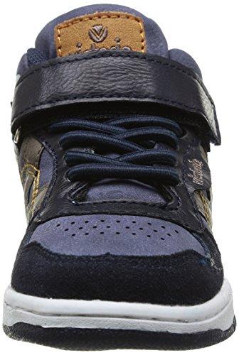 Victoria Sneaker Velcro Pu Serraje, Boots mixte enfant Bleu (Marino)