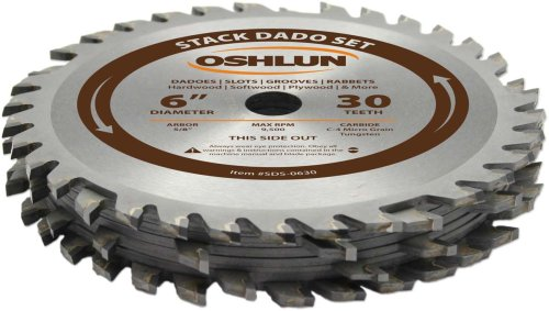 oshlun Stack Dado Set mit 5/8Zoll Arbor, SDS-0630