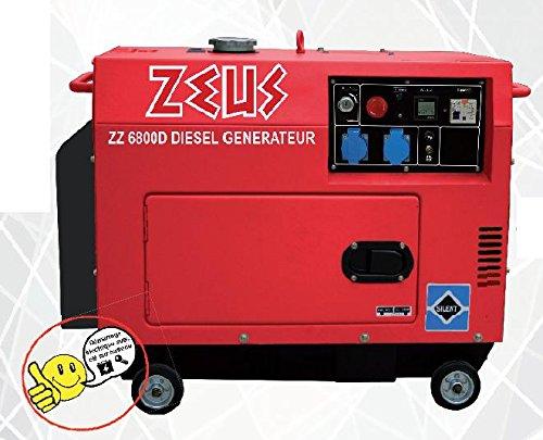 ZEUZ ZEUZ6800D Groupe Electrogène Diesel Démarrage Electrique 5000 W
