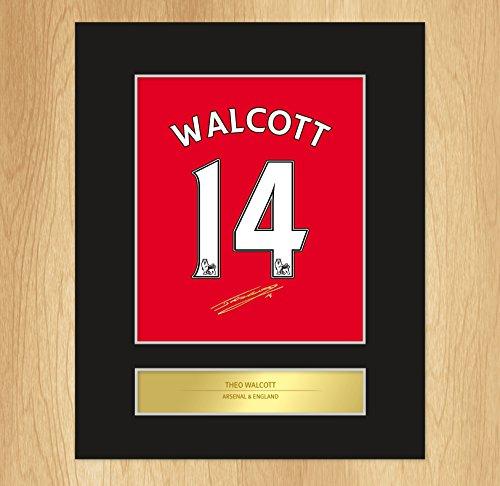 Theo Walcott autografata photo display Arsenal