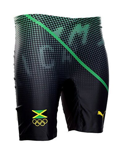 Puma Bolt (Puma Competition Short Tight Jamaica Größe XL Usain Bolt Olympia Lauf-Hose Run)