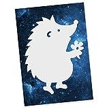 Mr. & Mrs. Panda Postkarte Igel Dankeschön - 100% handmade in Norddeutschland - Ansichtskarte, Sprüche, Danke sagen, Bedanken, Igel, Grußkarte, Postkarte, Pappe, Geschenkkarte, Danke ,Dankeschön, Karton, Einladung