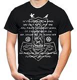 AXT & Schwert Männer und Herren T-Shirt | Vikings Wikinger Ragnar ||| Front (L, Schwarz)