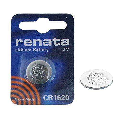 RENATA CR1620 LOT DE 2 PILES AU LITHIUM 3V