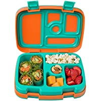 Bentgo Kids Brights – Kinder Lunchbox/Bento Box/Brotdose mit 5 Unterteilungen, auslaufsicher (Orange)