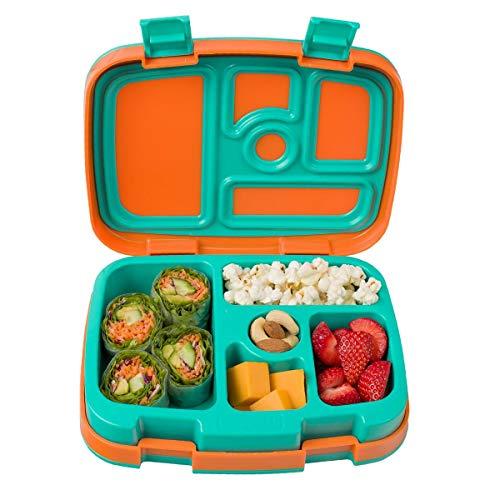 - Kinder Lunchbox/Bento Box/Brotdose mit 5 Unterteilungen, auslaufsicher (Orange) ()